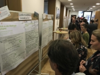 Die Zielbilder der einzelnen Gruppen wurden an Posterboards aufgehängt und konnten von allen kommentiert werden.